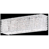 Matrix 3 Light 5 inch Stainless Steel Wall Sconce Wall Light in Clear Spectra, Geometrix