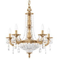 Schonbek 5690-26O Milano 7 Light 21 inch French Gold Chandelier Ceiling Light in Cast French Gold Milano Optic