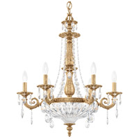 Schonbek 5691-26O Milano 9 Light 23 inch French Gold Chandelier Ceiling Light in Cast French Gold Milano Optic
