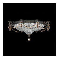 Schonbek Milano 3 Light Flush Mount in Coppertina and Golden Teak Swarovski Elements Colors Trim 5634-87TK