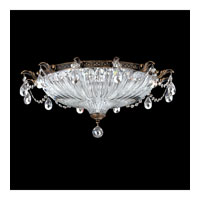 Schonbek Milano 4 Light Flush Mount in Midnight Gild and Crystal Swarovski Elements Trim 5635-86S