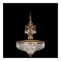 Schonbek Milano 3 Light Pendant in Florentine Bronze and Golden Shadow Swarovski Elements Colors Trim 5638-83GS