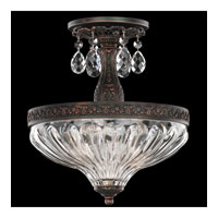 Schonbek Milano 2 Light Semi Flush Mount in Coppertina and Clear Optic Handcut Trim 5644-87O