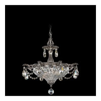 Schonbek Milano 2 Light Pendant in Black Pearl and Silver Shade Swarovski Elements Colors Trim 5651-49SH