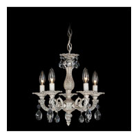 Schonbek Milano 5 Light Chandelier in Cypress and Clear Spectra Crystal Trim 5662-88A
