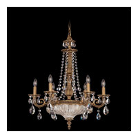 Schonbek Milano 9 Light Chandelier in Florentine Bronze and Clear Spectra Crystal Trim 5691-83A