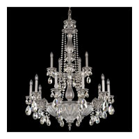 Milano 19 Light 31 inch Roman Silver Chandelier Ceiling Light in Clear Swarovski