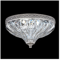 Milano 2 Light 10 inch Roman Silver Flush Mount Ceiling Light