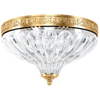 Schonbek 5630-22 Milano No Trim 2 Light 10 inch Heirloom Gold Flush Mount Ceiling Light