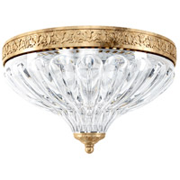 Schonbek 5630-26 Milano 2 Light 10 inch French Gold Flush Mount Ceiling Light in Cast French Gold