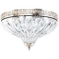 Schonbek 5630-48 Milano 2 Light 10 inch Antique Silver Flush Mount Ceiling Light in Cast Antique Silver
