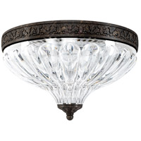 Schonbek 5630-80 Milano No Trim 2 Light 10 inch Roman Silver Flush Mount Ceiling Light