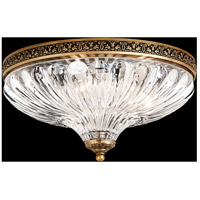 Milano 3 Light 12 inch Florentine Bronze Flush Mount Ceiling Light