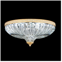 Milano 4 Light 16 inch Parchment Gold Flush Mount Ceiling Light