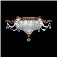 Milano 2 Light 17 inch Florentine Bronze Flush Mount Ceiling Light in Clear Spectra