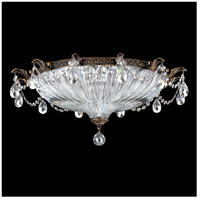 Schonbek 5635-23S Milano 4 Light 23 inch Etruscan Gold Flush Mount Ceiling Light in Clear Swarovski