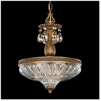 Milano 3 Light 12 inch Florentine Bronze Pendant Ceiling Light in Golden Shadow