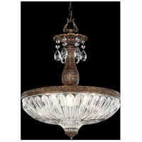 Milano 4 Light 16 inch Heirloom Bronze Pendant Ceiling Light in Clear Spectra