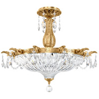 Schonbek 5650-22O Milano 4 Light 23 inch Heirloom Gold Semi Flush Mount Ceiling Light in Clear Optic