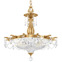 Schonbek 5653-23SH Milano 4 Light 23 inch Etruscan Gold Pendant Ceiling Light in Silver Shade
