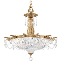Schonbek 5653-26O Milano 4 Light 23 inch French Gold Pendant Ceiling Light in Cast French Gold Milano Optic
