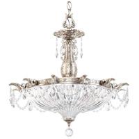 Schonbek 5653-48O Milano 4 Light 23 inch Antique Silver Pendant Ceiling Light in Cast Antique Silver Milano Optic