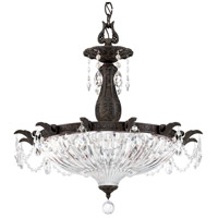 Schonbek 5653-76A Milano 4 Light 23 inch Heirloom Bronze Pendant Ceiling Light in Clear Spectra
