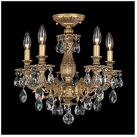 Milano 5 Light 16 inch Florentine Bronze Semi Flush Mount Ceiling Light in Clear Spectra