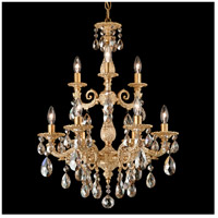 Milano 9 Light 18 inch Parchment Gold Chandelier Ceiling Light in Golden Shadow