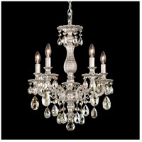 Milano 5 Light 16 inch Antique Silver Chandelier Ceiling Light in Silver Shade