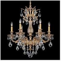 Milano 6 Light 24 inch Florentine Bronze Chandelier Ceiling Light in Clear Spectra