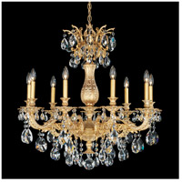 Milano 9 Light 30 inch Parchment Gold Chandelier Ceiling Light in Clear Spectra