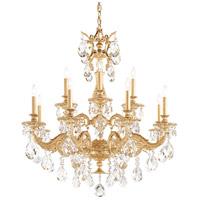 Schonbek 5682-22O Milano 12 Light 33 inch Heirloom Gold Chandelier Ceiling Light in Clear Optic