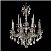 Milano 12 Light 31 inch Roman Silver Chandelier Ceiling Light in Silver Shade