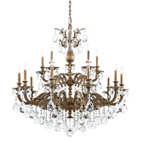 Schonbek 5685-76A Milano 15 Light 39 inch Heirloom Bronze Chandelier Ceiling Light in Cast Heirloom Bronze, Milano Spectra
