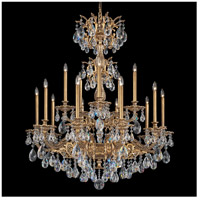Milano 15 Light 39 inch Florentine Bronze Chandelier Ceiling Light in Clear Swarovski