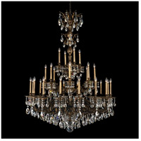 Milano 28 Light 50 inch Midnight Gild Chandelier Ceiling Light in Silver Shade