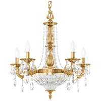 Schonbek 5690-22O Milano 7 Light Heirloom Gold Chandelier Ceiling Light in Clear Optic