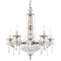 Schonbek 5690-48O Milano 7 Light 21 inch Antique Silver Chandelier Ceiling Light in Cast Antique Silver Milano Optic