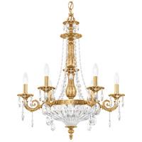 Schonbek 5691-22O Milano 9 Light 23 inch Heirloom Gold Chandelier Ceiling Light in Clear Optic