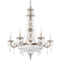 Schonbek 5691-48O Milano 9 Light 23 inch Antique Silver Chandelier Ceiling Light in Cast Antique Silver Milano Optic