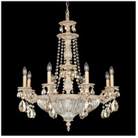 Milano 12 Light 27 inch Parchment Gold Chandelier Ceiling Light in Golden Shadow