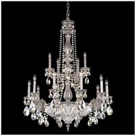 Schonbek 5694-80SH Milano 19 Light 31 inch Roman Silver Chandelier Ceiling Light in Cast Roman Silver Milano Silver Shade
