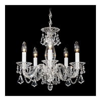 Schonbek Minuet 5 Light Chandelier in Silver and Clear Heritage Handcut Trim 6985CL