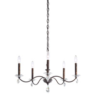 Schonbek MD1005N-76H Modique 5 Light 27 inch Heirloom Bronze Chandelier Ceiling Light in Heritage