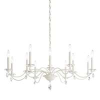 Schonbek MD1012N-06H Modique 12 Light 40 inch White Chandelier Ceiling Light in Heritage