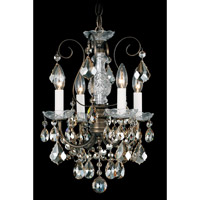 Schonbek New Orleans 4 Light Chandelier in Etruscan Gold and Golden Shadow Swarovski Elements Colors Trim 3648-23GS