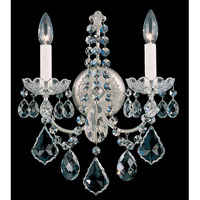 Schonbek New Orleans 2 Light Wall Sconce in Antique Silver and Clear Heritage Handcut Trim 3651-48H