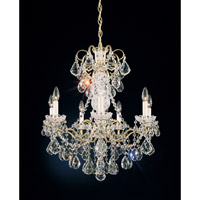 Schonbek New Orleans 7 Light Chandelier in French Gold and Clear Heritage Handcut Trim 3656-26H