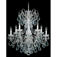 New Orleans 10 Light 28 inch Antique Silver Chandelier Ceiling Light in Clear Heritage